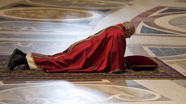 Pope Francis condemns 'unprecedented' terrorist violence in Good Friday speech