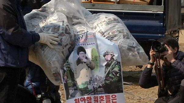 Globos gigantes contra Kim Jong Un