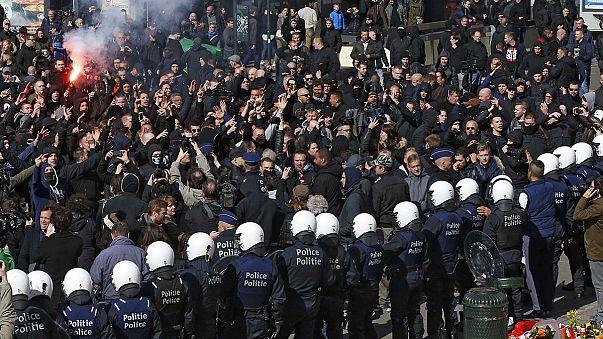Полиция разогнала манифестацию националистов в Брюсселе