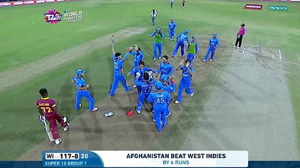 Afghanistan exit World Twenty20 with a stunning win over West Indies