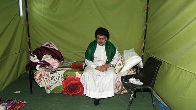 El clérigo chií Muqtada al Sadr protagoniza una sentada en la Zona Verde de Bagdad