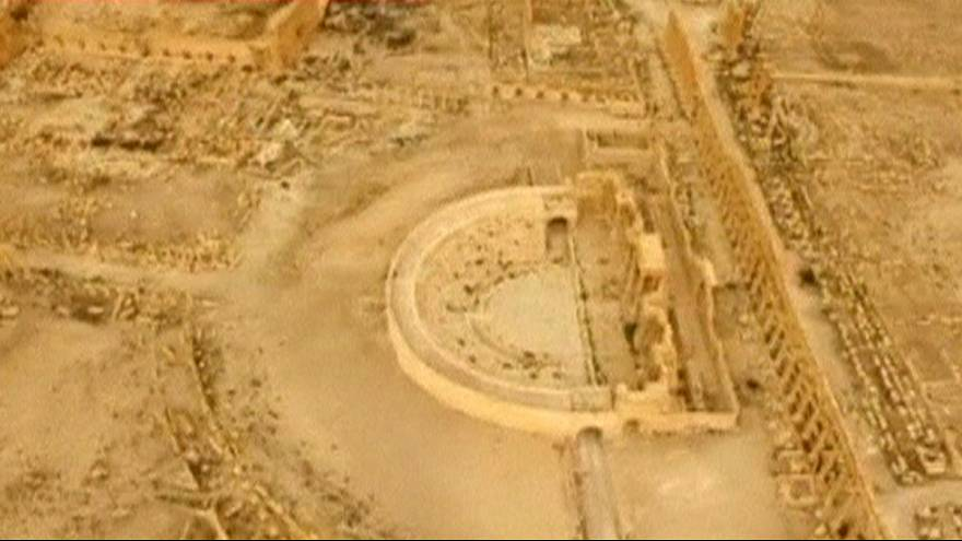 Drone shows ancient Palmyra after Syrian government recapture