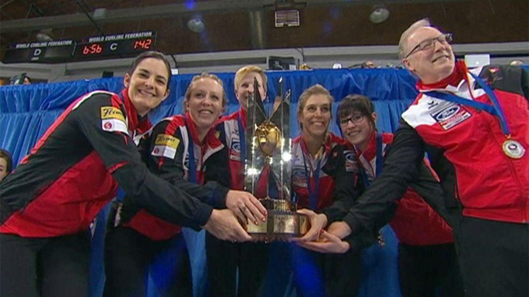 """Suíças """"varrem"""" mundiais de curling"""