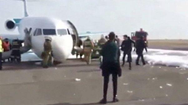 Aterrizaje de urgencia en Astana