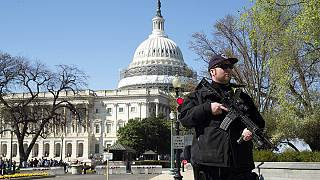 US Capitol shooting: suspected gunman and bystander injured