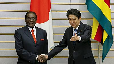 Japan's Abe welcomes 'iconic' Mugabe