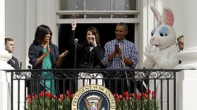 USA: the Obamas host annual Easter egg roll