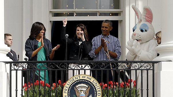 Los Obama celebran la Pascua con miles de niños