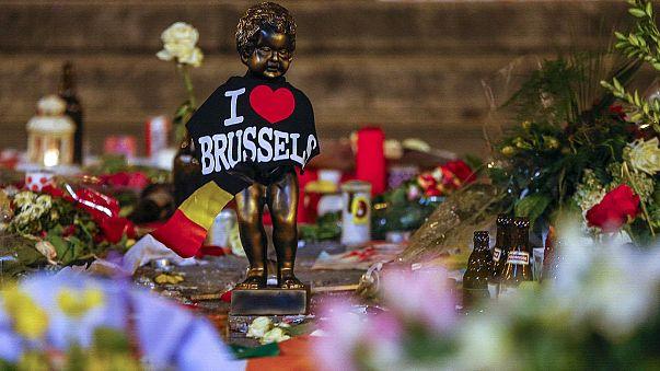 Bruxelas, uma semana depois dos atentados terroristas que atingiram o coração da Europa