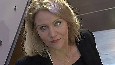 A primeira mulher a chefiar o governo da Dinamarca despediu-se do Parlamento