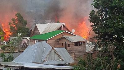 Several houses razed down by fire in eastern DRC