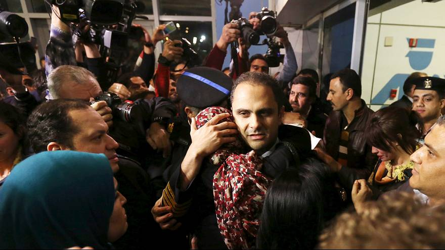 Passengers and crew on hijacked jet arrive back in Egypt