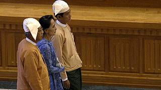Myanmar swears in a new government after decades of military rule