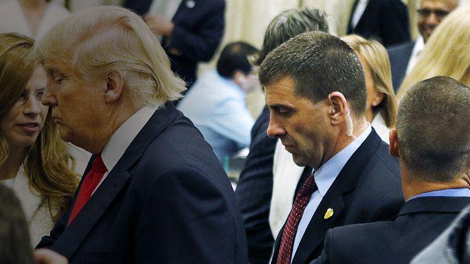 ردود أفعال مستنكرة من مرشحي الحزبين على جر مدير حملة ترامب لصحفية