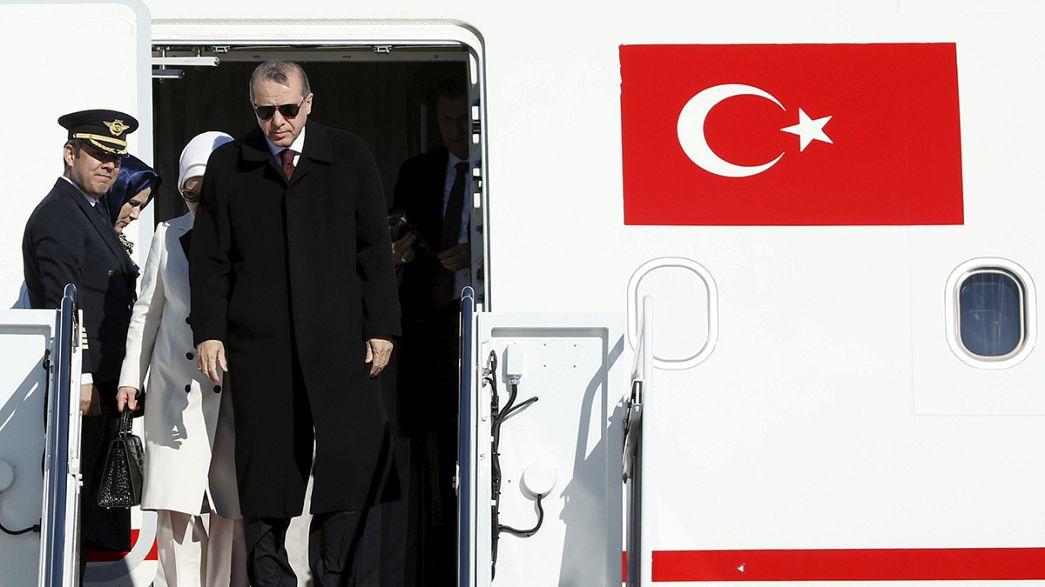 Arrivée du président turc aux Etats-Unis sur fond de fortes tensions entre les deux pays