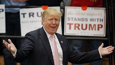 Donald Trump en morceaux de jambon à Londres