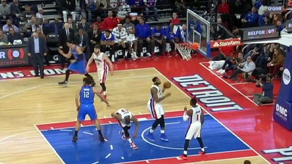 NBA : Oklahoma, sans Durant et Ibaka, s'incline à Detroit