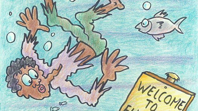 Karikatürlerle mültecilerin dramı