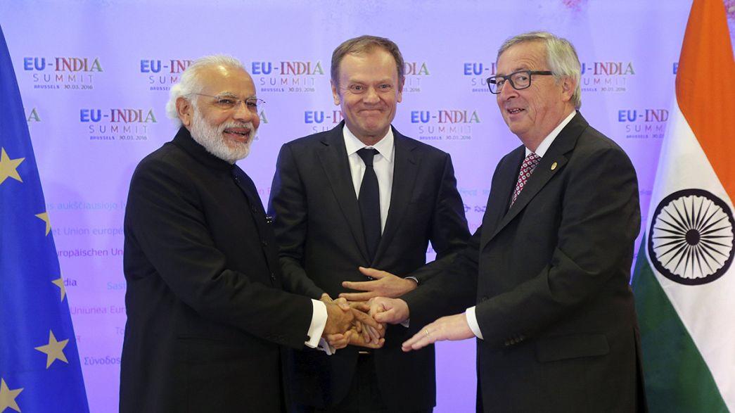 Bruxelas: União Europeia e Índia estreitam laços em cimeira