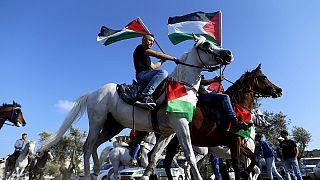 فسطينيون يحيون الذكرى الاربعين ليوم الارض