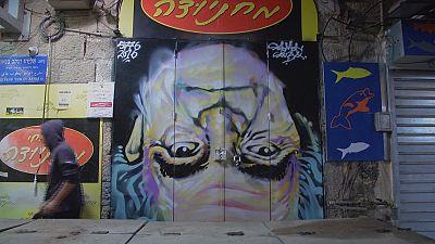 Grafitis que inspiran en el zoco Jerusalén
