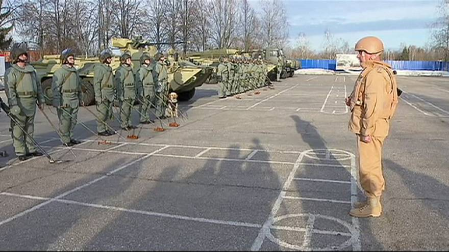 Russia soldiers train for Syria