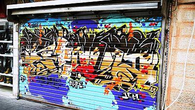 Graffiti art transforms Jerusalem market