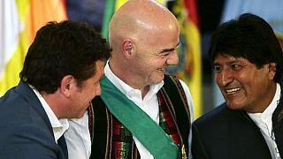 FIFA president Infantino arrives in Bolivia
