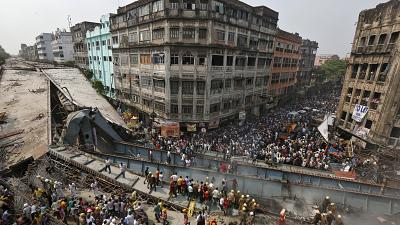 At least 20 killed in Indian bridge collapse