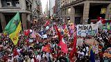 البرازيل: أنصارالرئيسة ديلما روسيف يتظاهرون رفضا لإقالتها