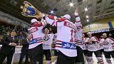 """Donezker """"Donbass"""" feiern Meisterschaft im Kiewer Sportpalast"""
