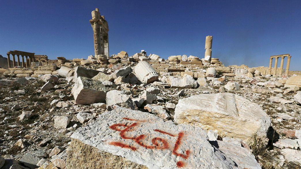 El Dáesh dejó su huella de destrucción en el Museo de Palmira