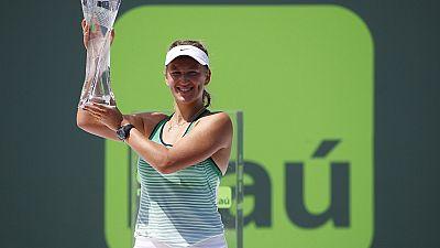 Azarenka demolishes Kuznetsova for third Miami Open title