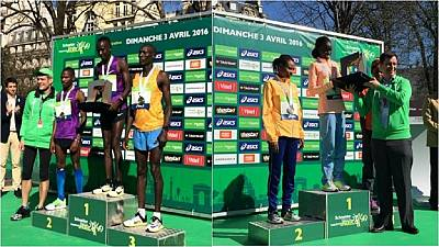 Kenyans win 40th edition of Paris Marathon