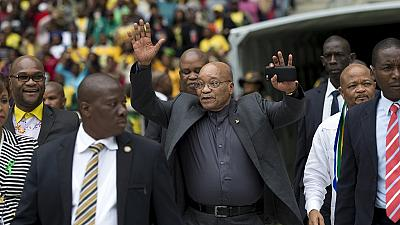 Zuma makes first public appearance since constitution violation ruling