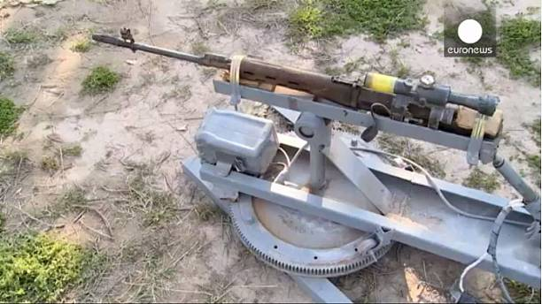 Pictured: ISIL's remote controlled machine gun
