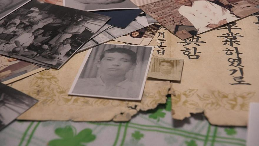 Image: Photos and documents are Lee Soo-nam's mementos of his life before t