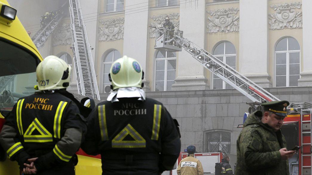 Russie : un édifice de la Défense en flammes