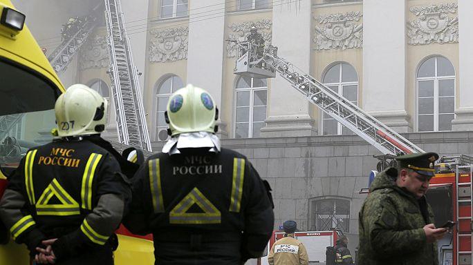 Tűz volt Moszkva belvárosában