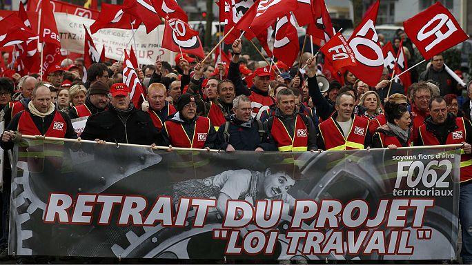 """Франция: """"Ночь на ногах"""" против реформы трудового кодекса"""