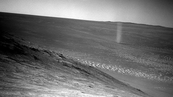 Une tornade immortalisée sur Mars
