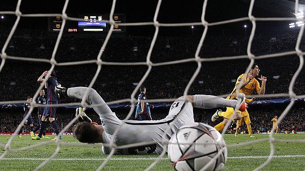 Sufrido triunfo del Barcelona ante el Atlético de Madrid y ajustada victoria del Bayern frente al Benfica en la Liga de Campeones