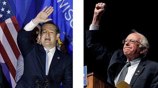 انتخابات مقدماتی آمریکا؛ پیروزی برنی سندرز و تد کروز در ایالت ویسکانسین