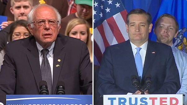 US-Vorwahlen in Wisconsin: Ted Cruz siegt vor Donald Trump, Bernie Sanders vor Clinton