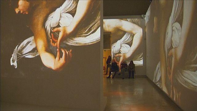معرض للوحات كارافاجيو عبرتقنية الواقع المعزز في روما