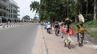 Violence in Brazzaville; people flee their homes