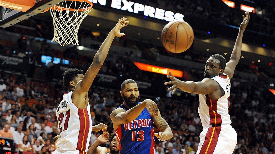 Basket: NBA, Miami batte Detroit