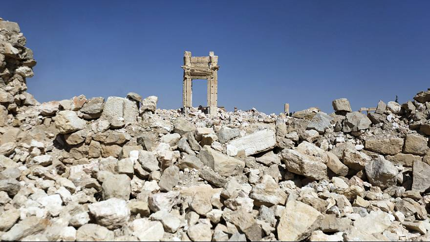 """تدمر بعد تحريرها من تنظيم ما يسمى بـ""""الدولة الاسلامية"""""""