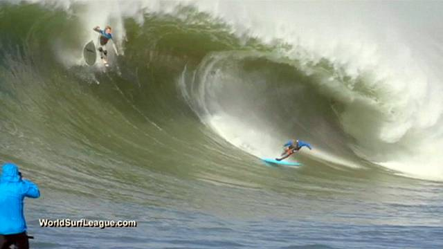 Surfing wipeouts remembered in spectacular style