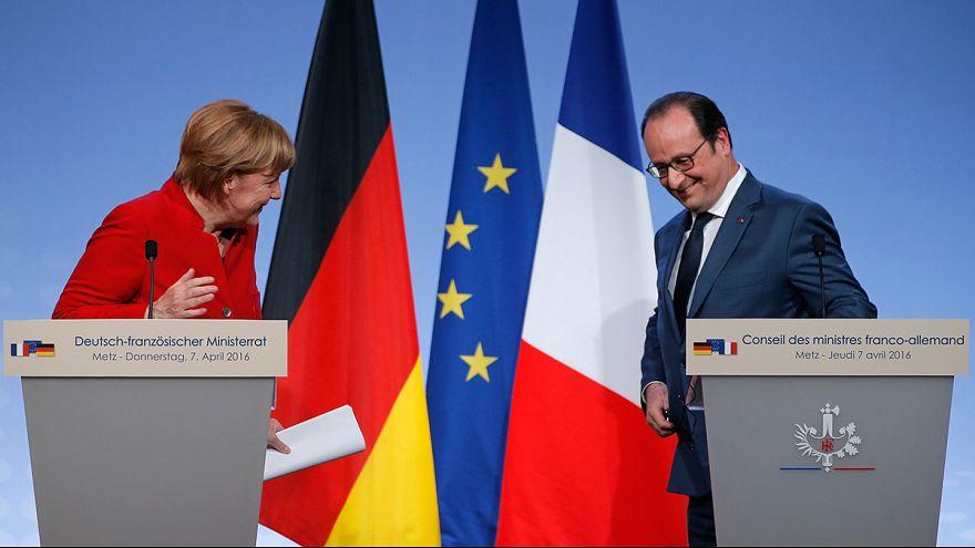 18.ª Cimeira franco-alemã: Merkel e Hollande juntos por Schengen